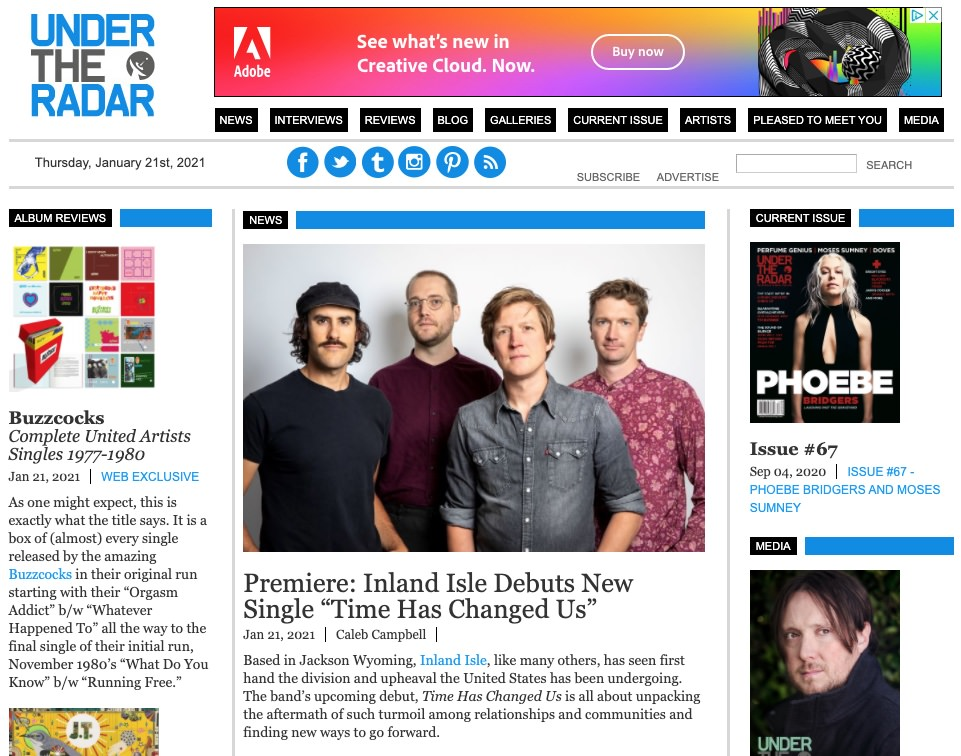 Inland Isle Band in Under the Radar Magazine